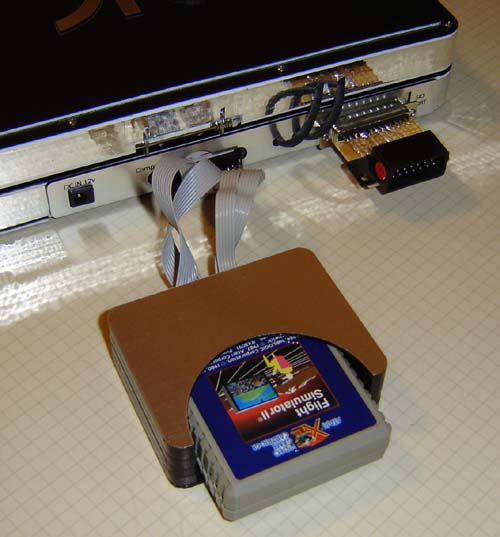 The cartridge is almost as thick as the laptop!