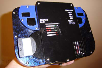 Note the number of air holes for the battery!