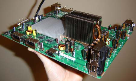 Xbox 360 laptop original web portal for benjamin j heckendorn the heatsink doubles as a c 130 engine radiator the stock xbox 360 motherboard ccuart Gallery