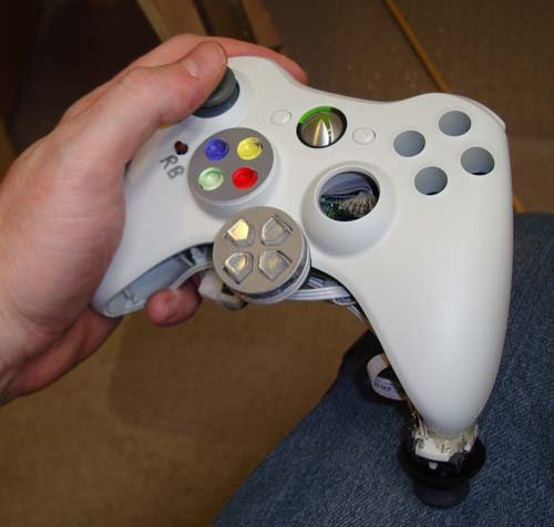 A left-handed controller